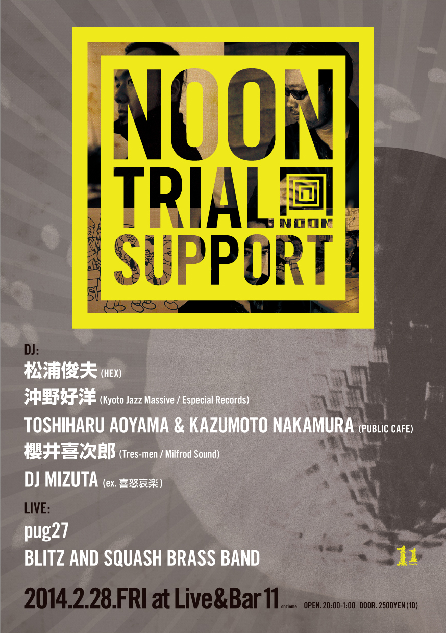 NOON TRIAL SUPPORT events 表